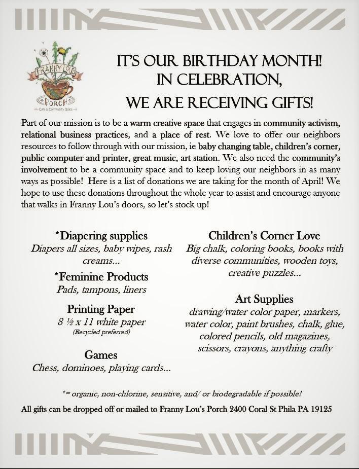donation flyer!